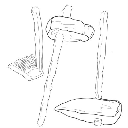 coloring pages of bone and stone tools image 10