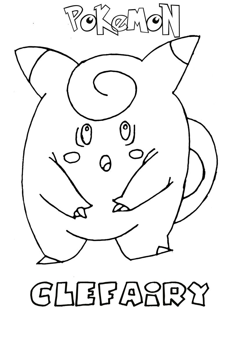Fairy Type Pokemon Coloring Pages