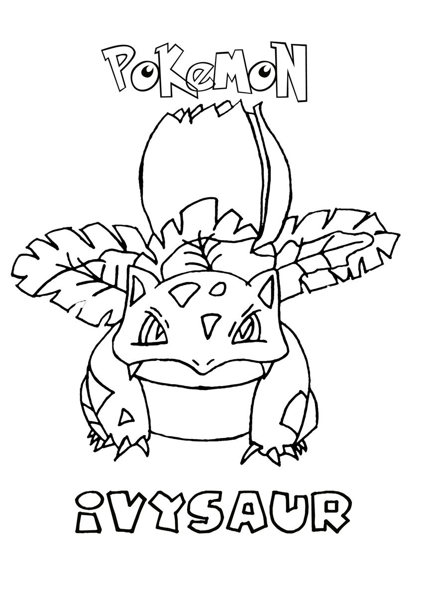 ivysaur pokemon coloring page - Grass Type Pokemon Coloring Pages