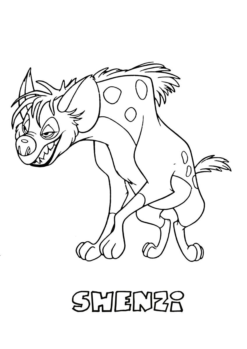 Shenzi the lion king coloring page