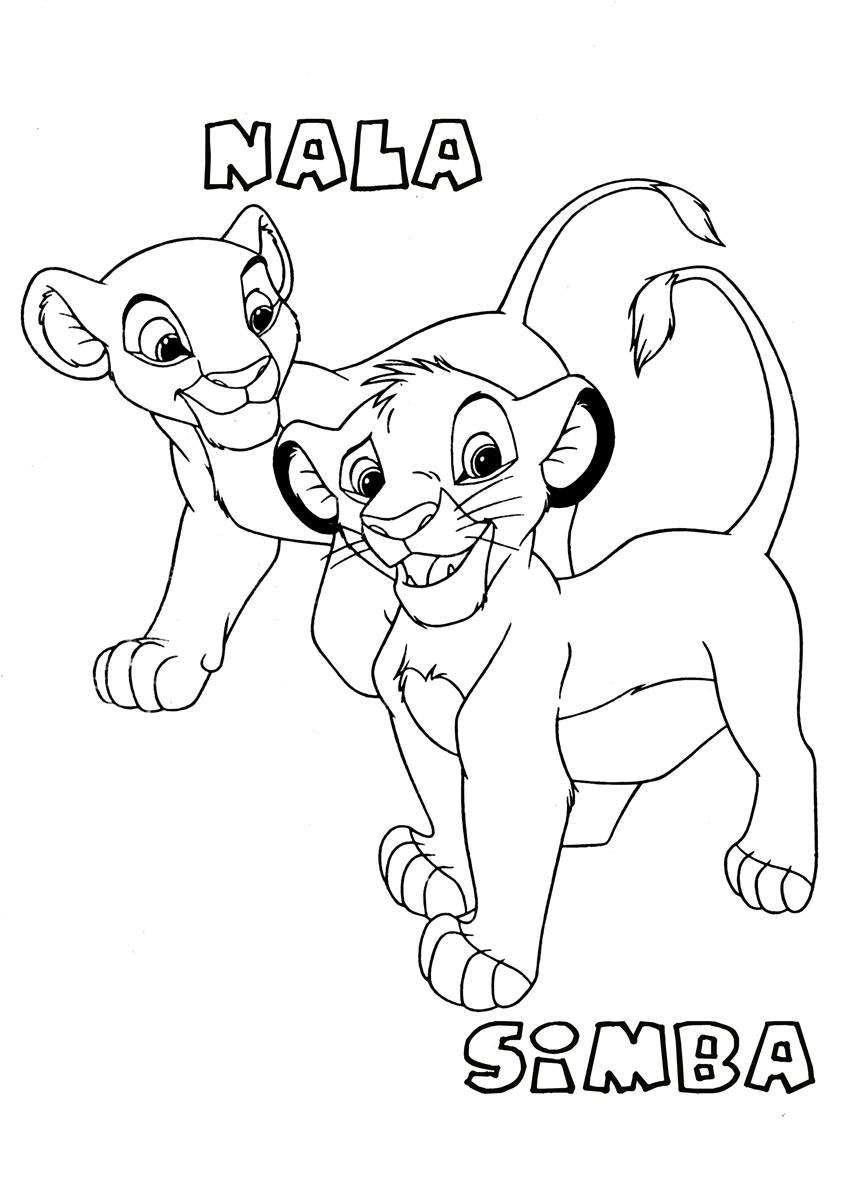 Simba And Nala2 The Lion King Coloring Page