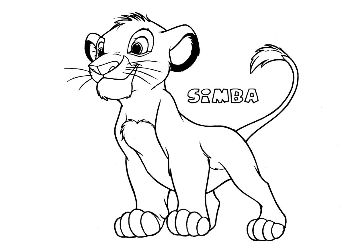 Simba5 the lion king coloring page