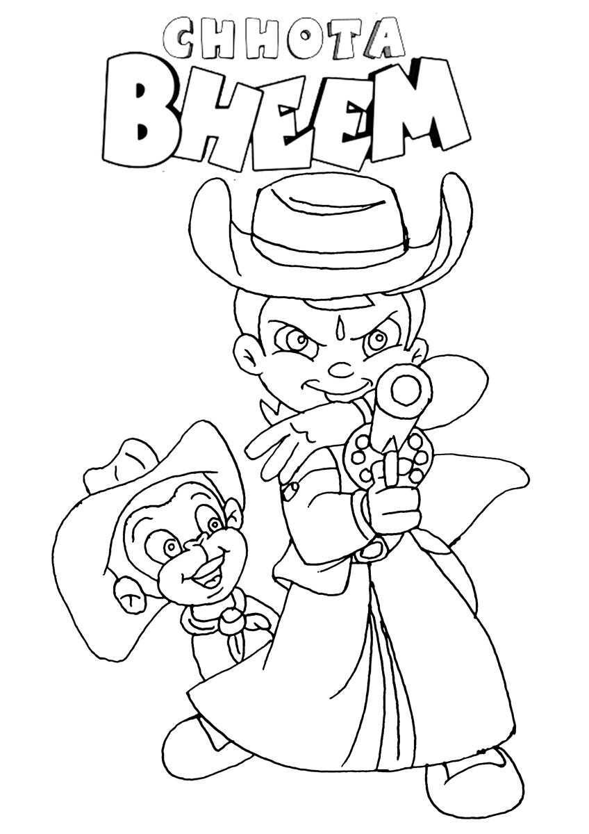 chhota bheem coloring pages - photo#2