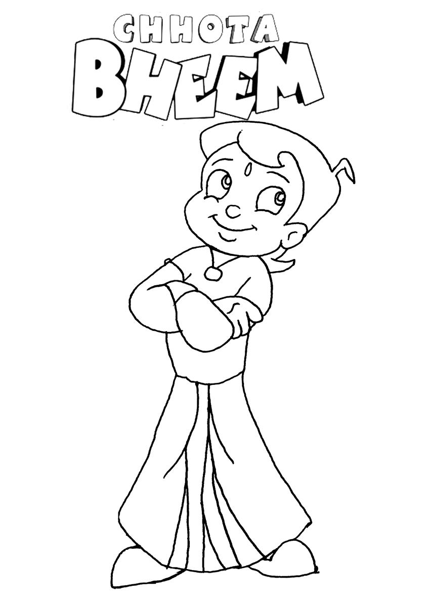 chhota bheem coloring pages - photo#4