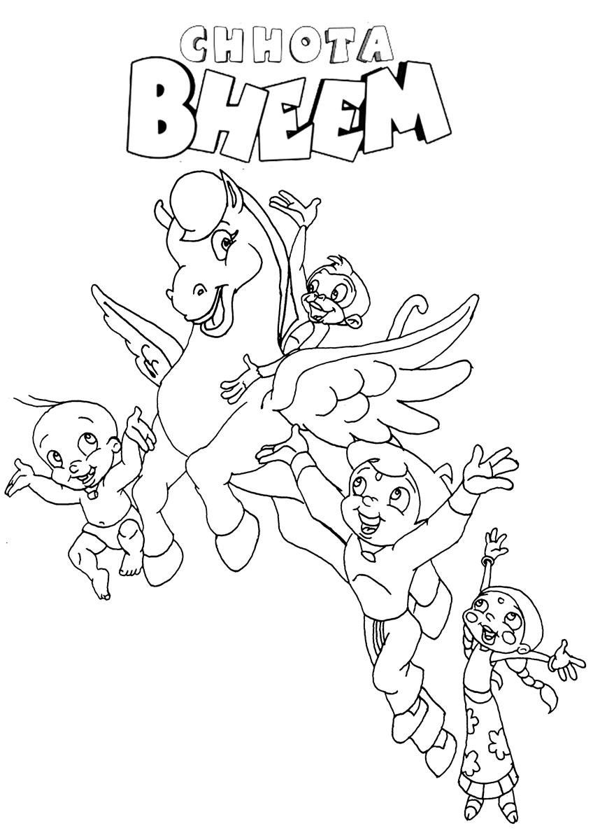 chota bheem team coloring pages - photo#25