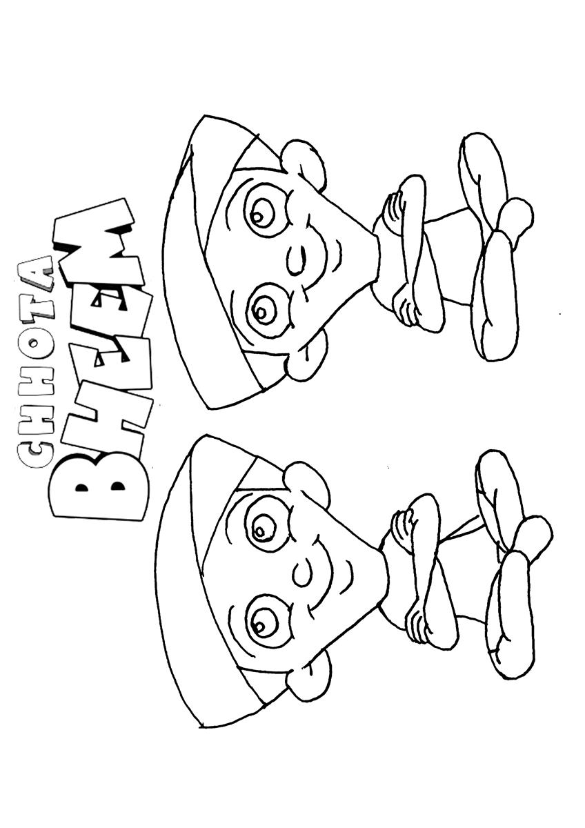 chota bheem team coloring pages - photo#21