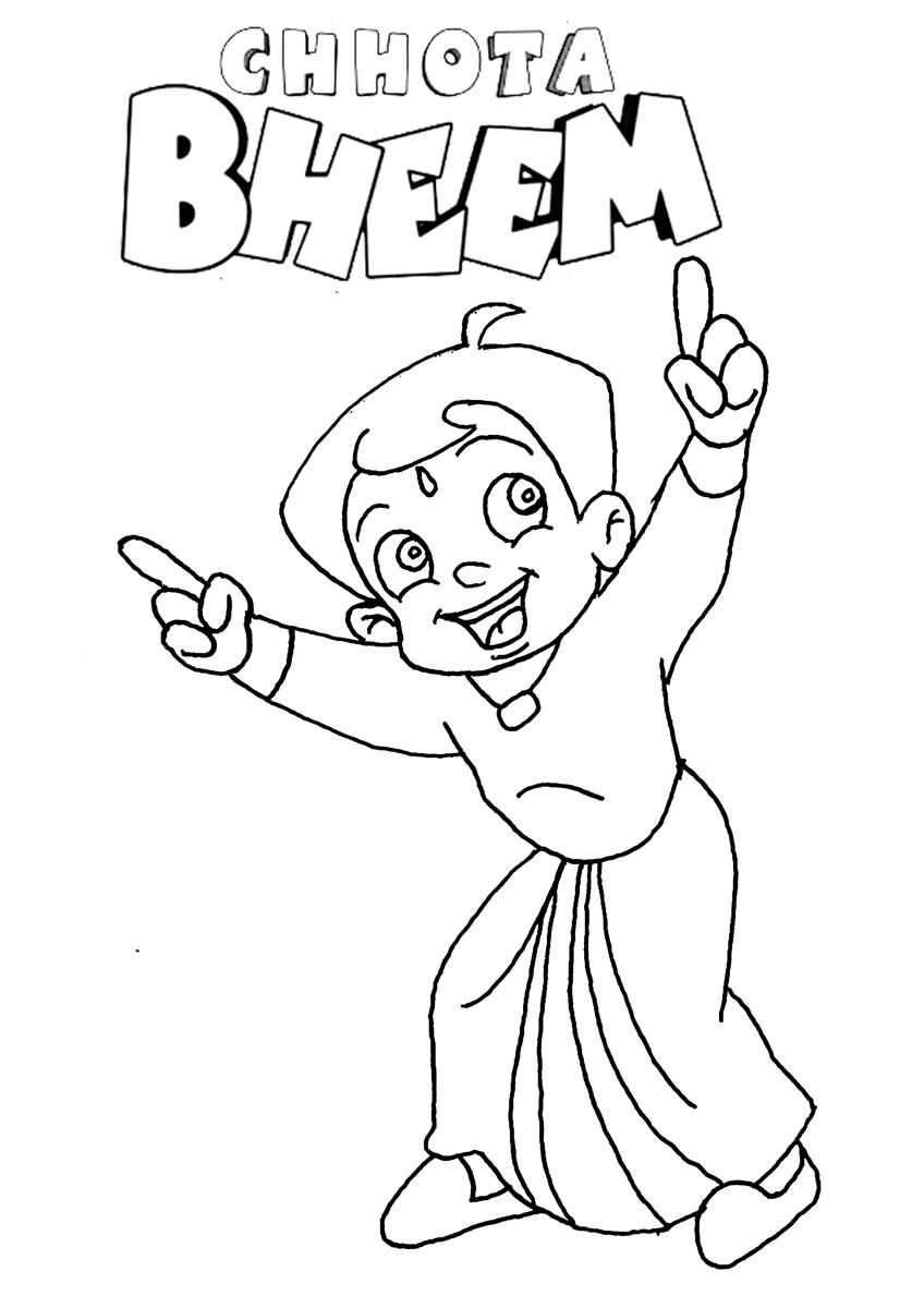 chhota bheem coloring pages - photo#3
