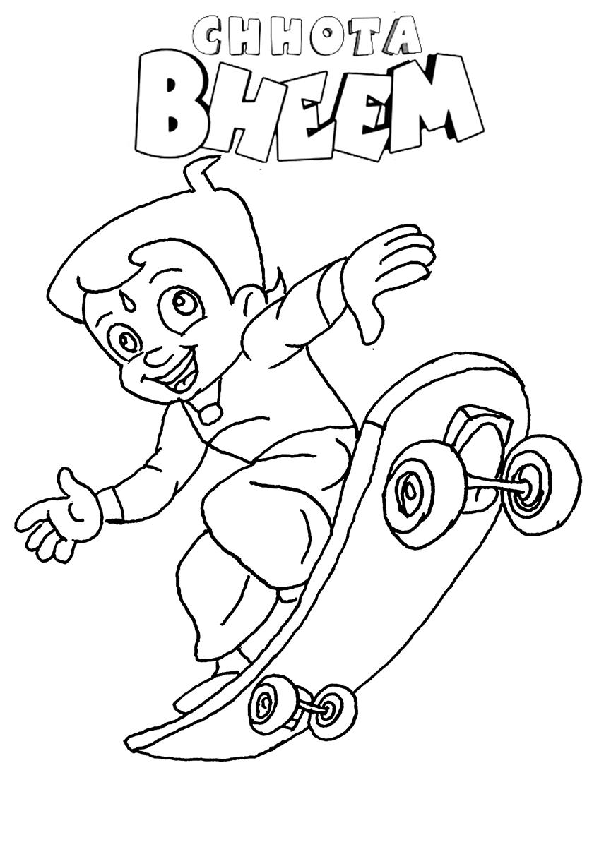 Online Coloring Chota Bheem : Chota bheem and indumati free coloring pages