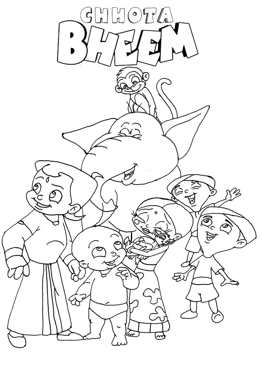 chota bheem team coloring pages - photo#7