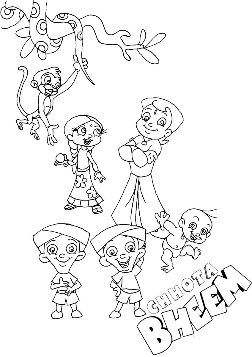 chota bheem team coloring pages - photo#13