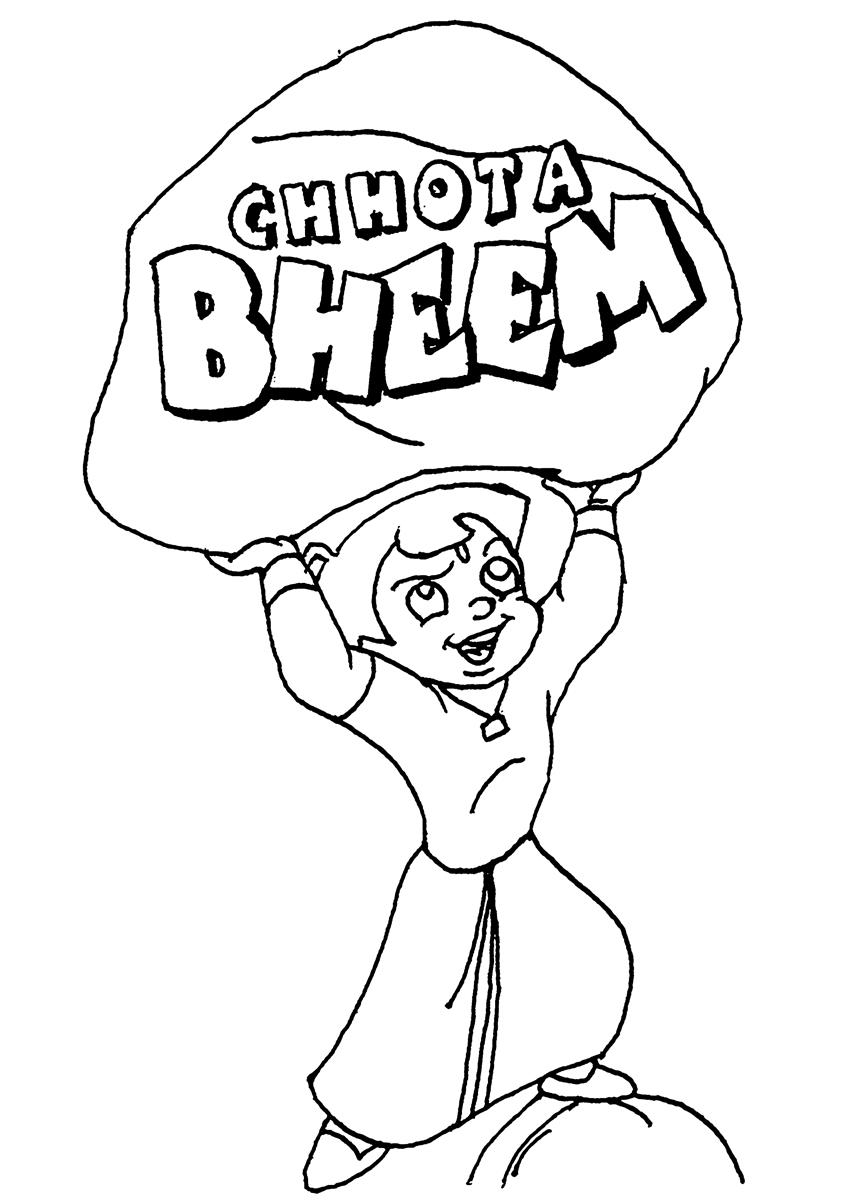 Online Coloring Chota Bheem : Free coloring pages of chhota bheem colour