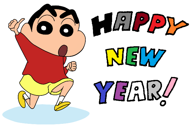 Shinchan says Happy New Years 2014