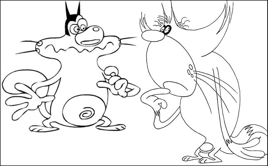 oggy and the cockroaches coloring pages online - photo #23