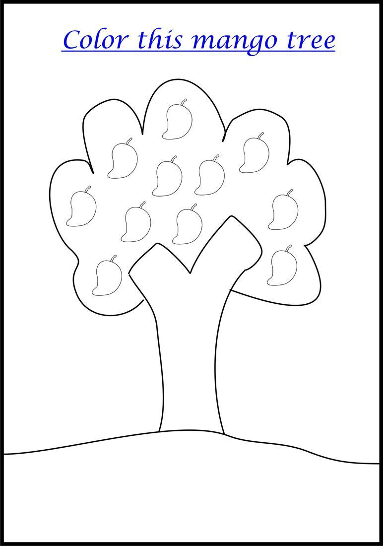 Mango Tree coloring page printable