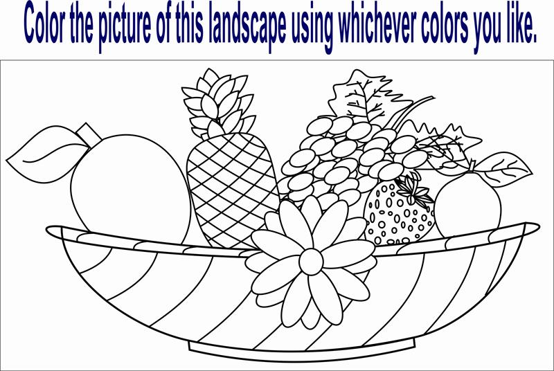 Fruit Worksheet Coloring Pages