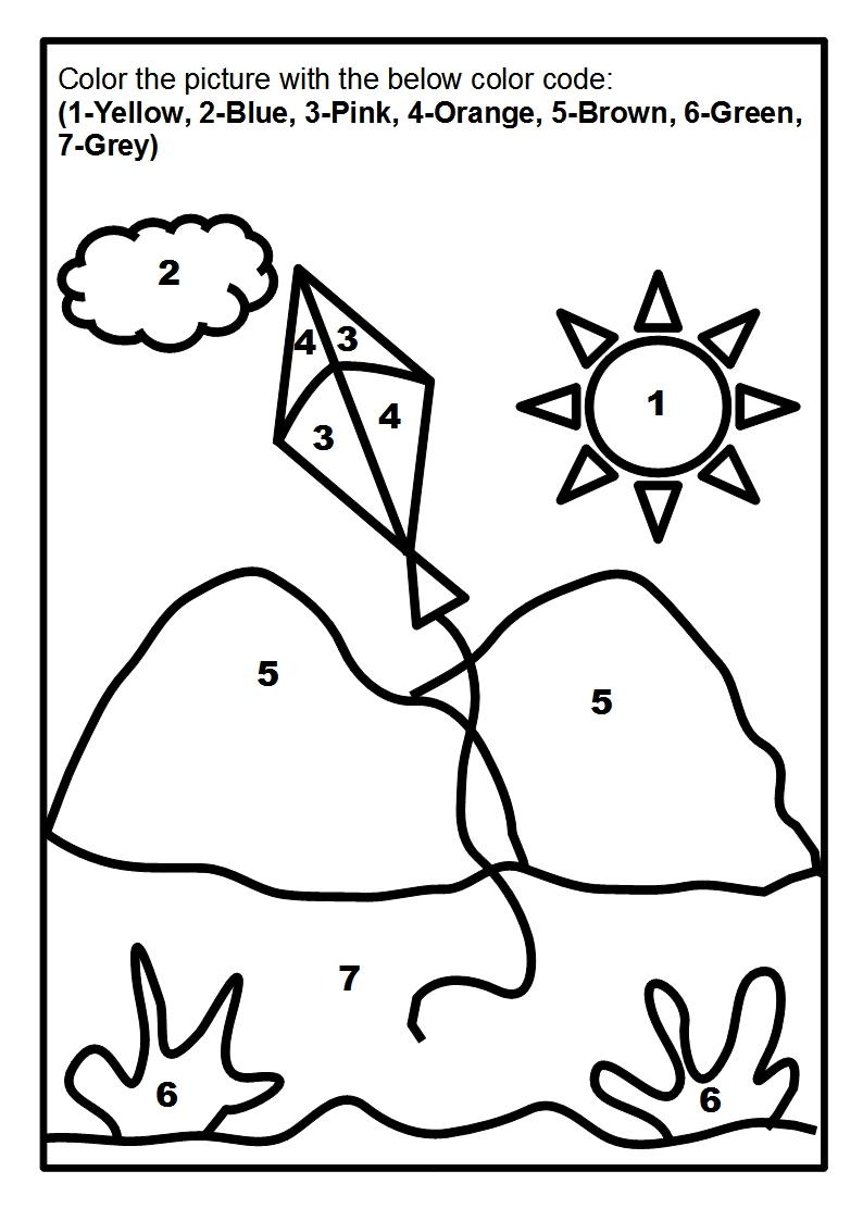 Scenery coloring page printable