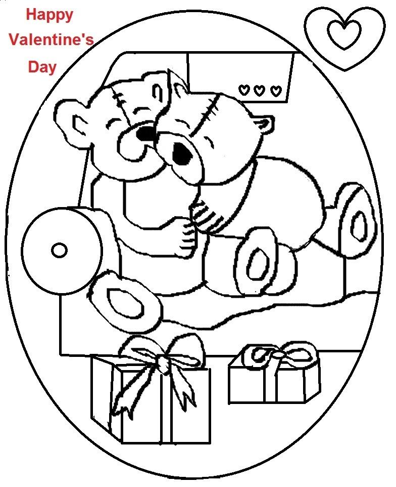 Valentine day coloring printable page for kids 2