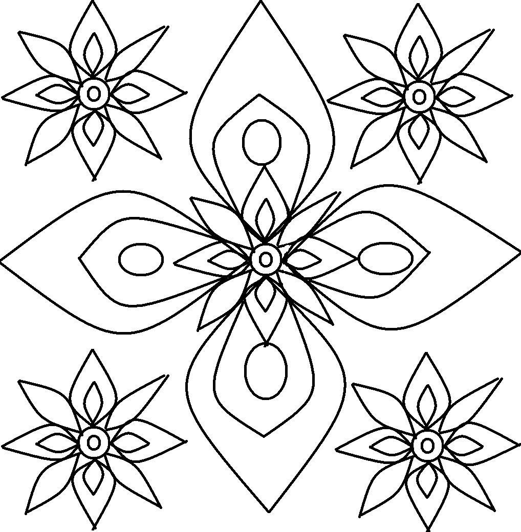 Rangoli Design Coloring Printable Page For Kids 3