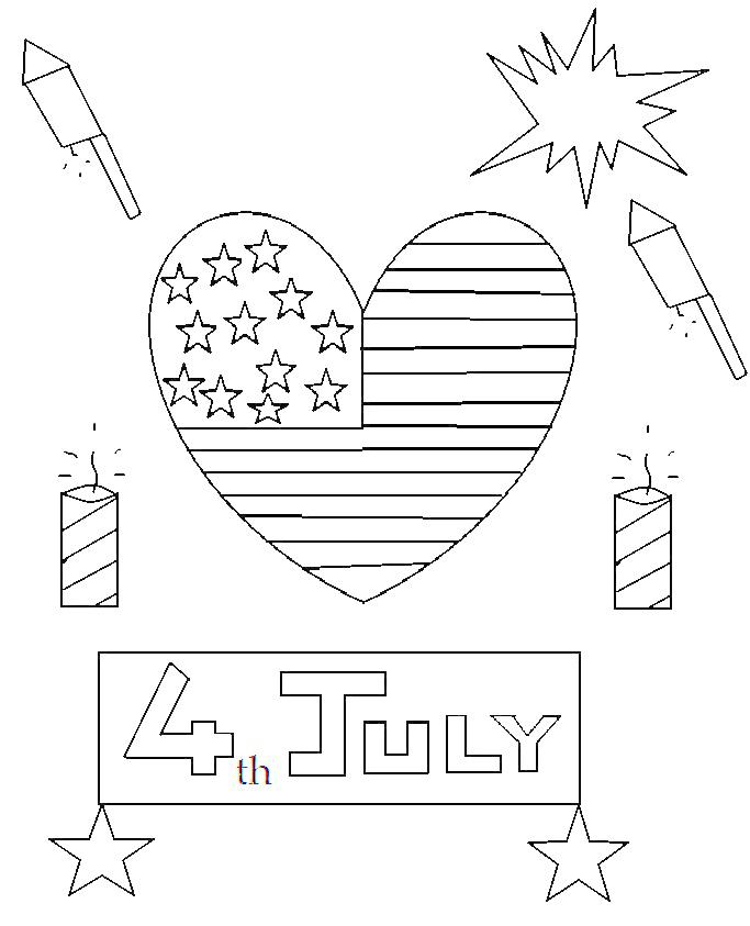 Coloring Pages 4th Of July Printable : Th of july for kids coloring pages