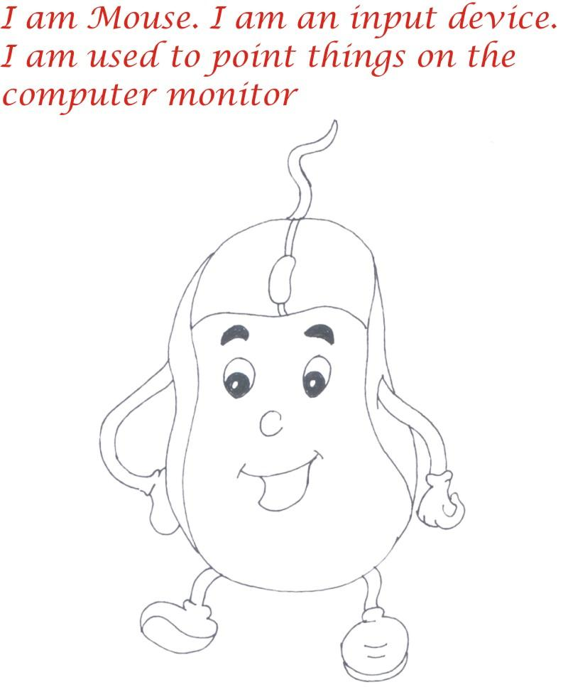 Computer Parts Input and Output devices coloring pages