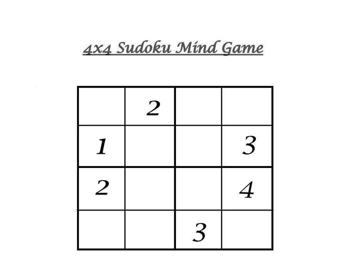 graphic about 4x4 Sudoku Printable identify 4x4 Sudoku 7