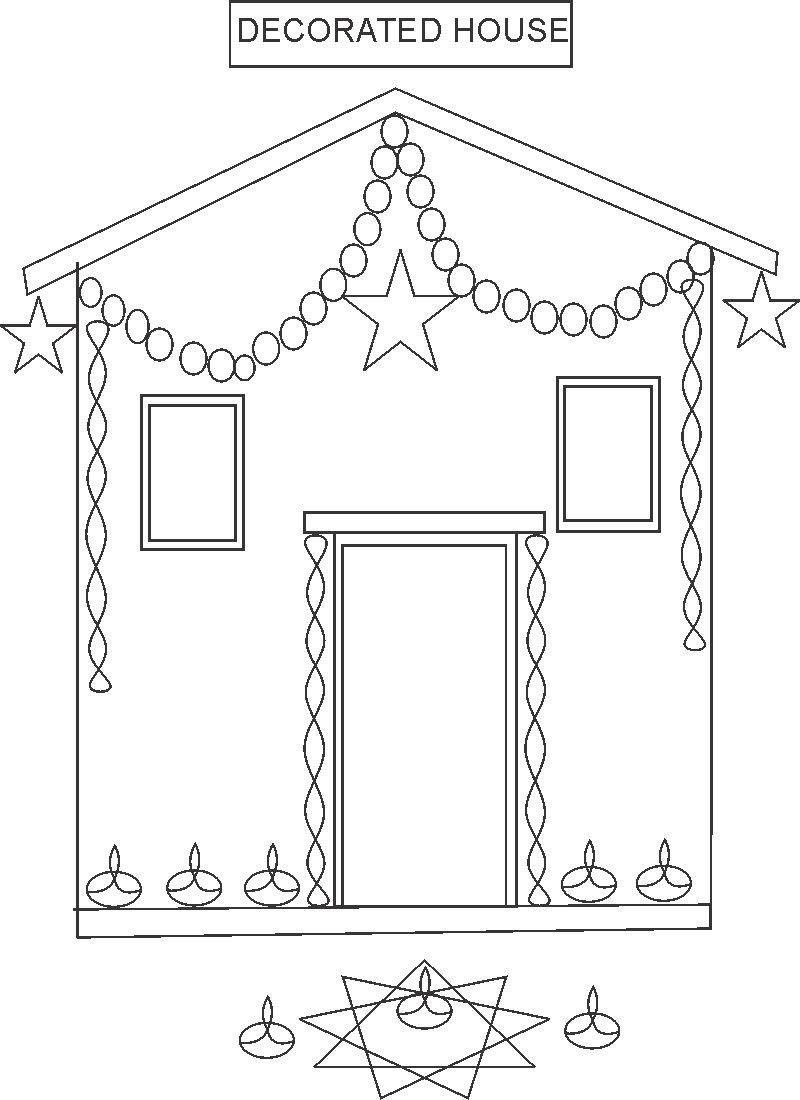 Diwali festival coloring pages
