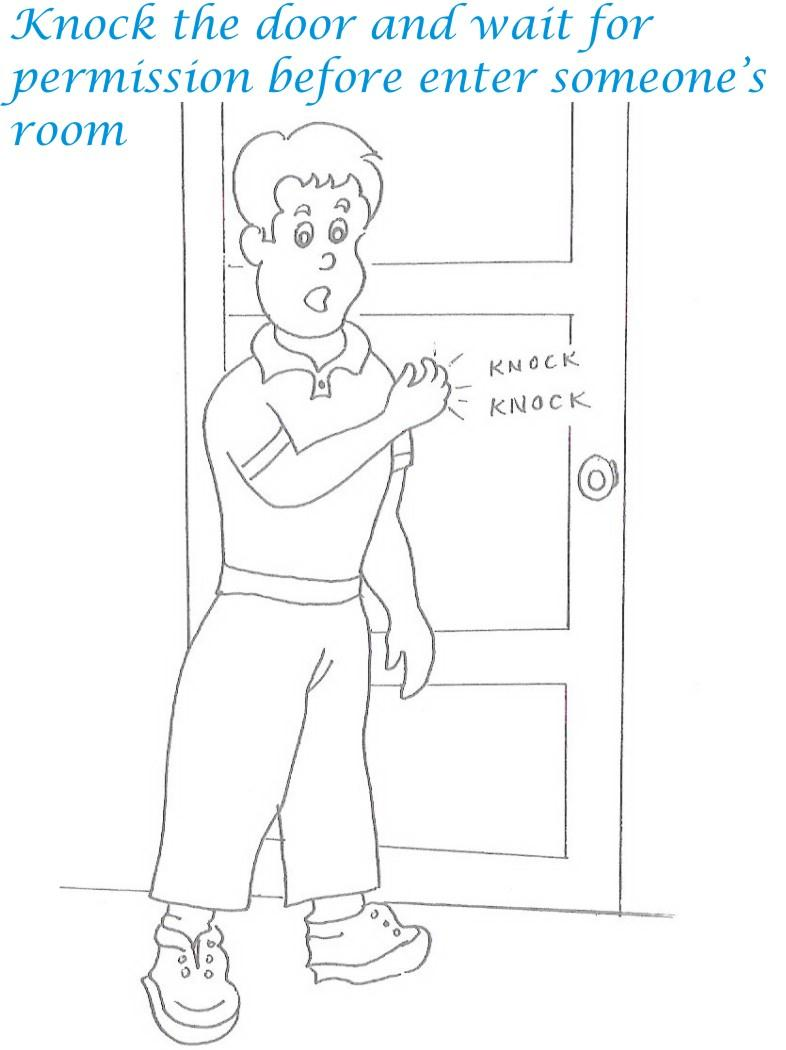 free good manners coloring pages - photo#36
