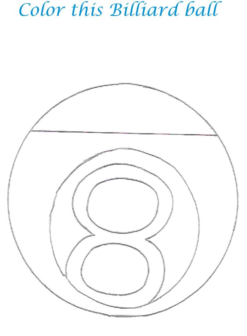 pool table coloring pages - photo#22