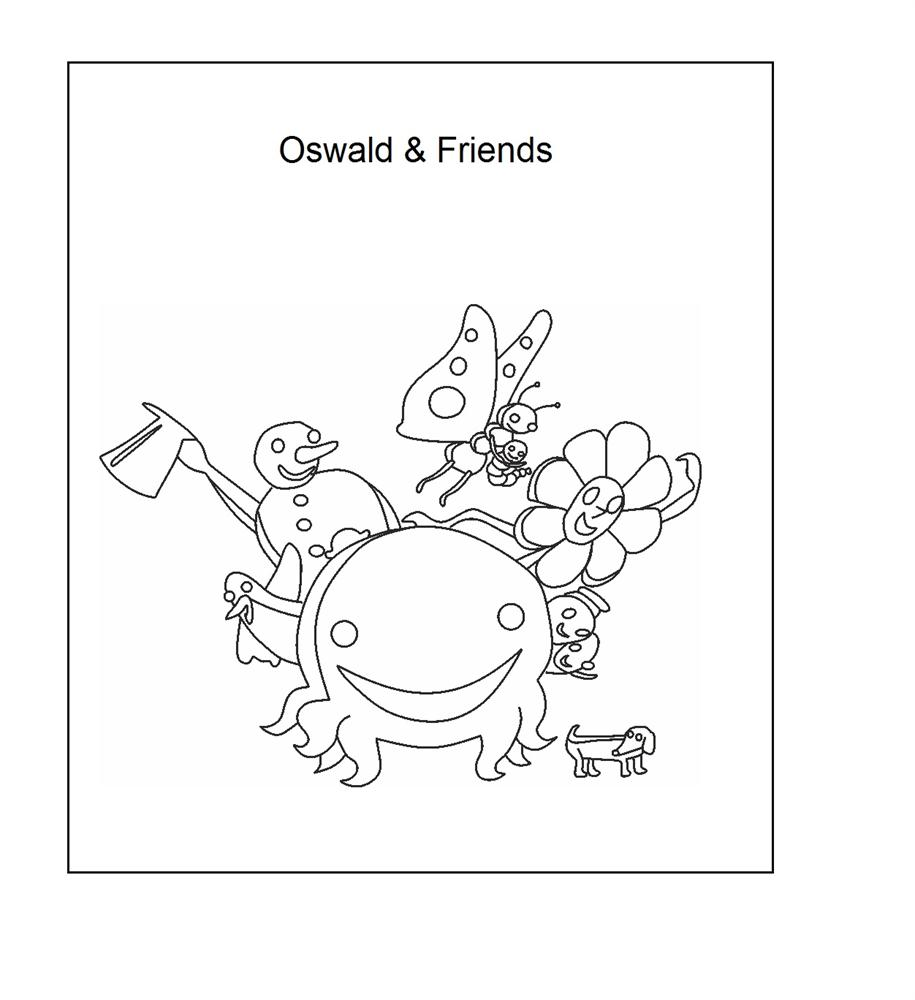 Oswald The Lucky Rabbit Coloring Pages Oswald Coloring Pages