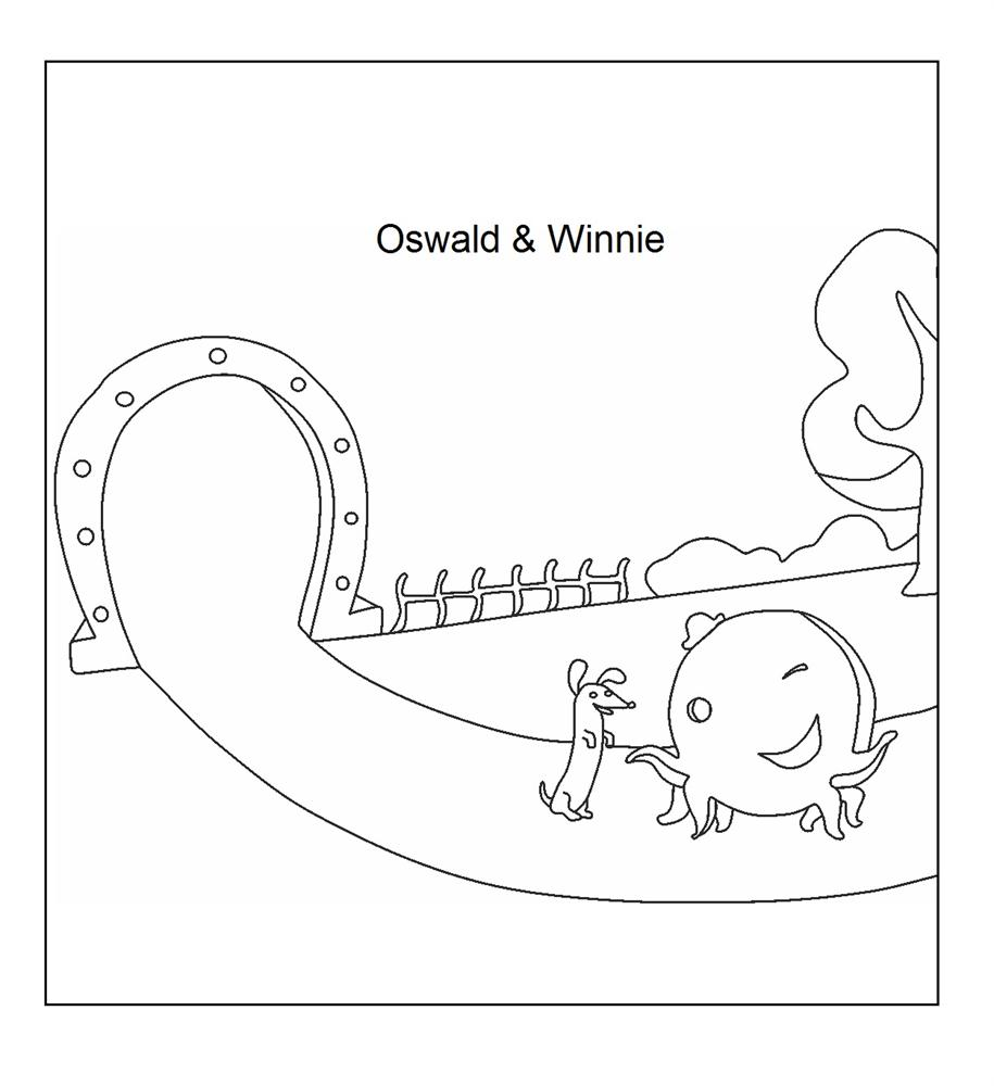 Oswald & Winnie Coloring printable page