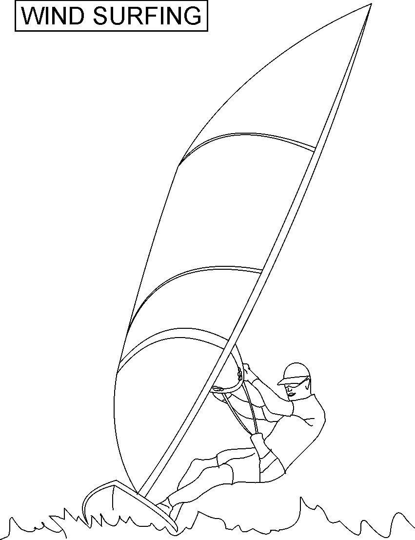 Free Coloring Pages Of A Surfboard Surfboard Coloring Page