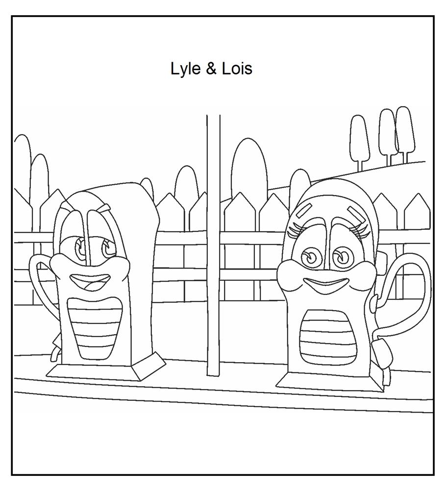 Lyle and Lois coloring printable page 2 for kids