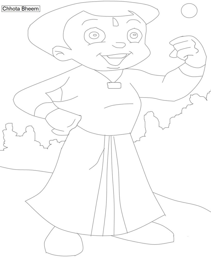 Chhota Bheem Coloring Pages Games.  Chota Bheem characters coloring pages