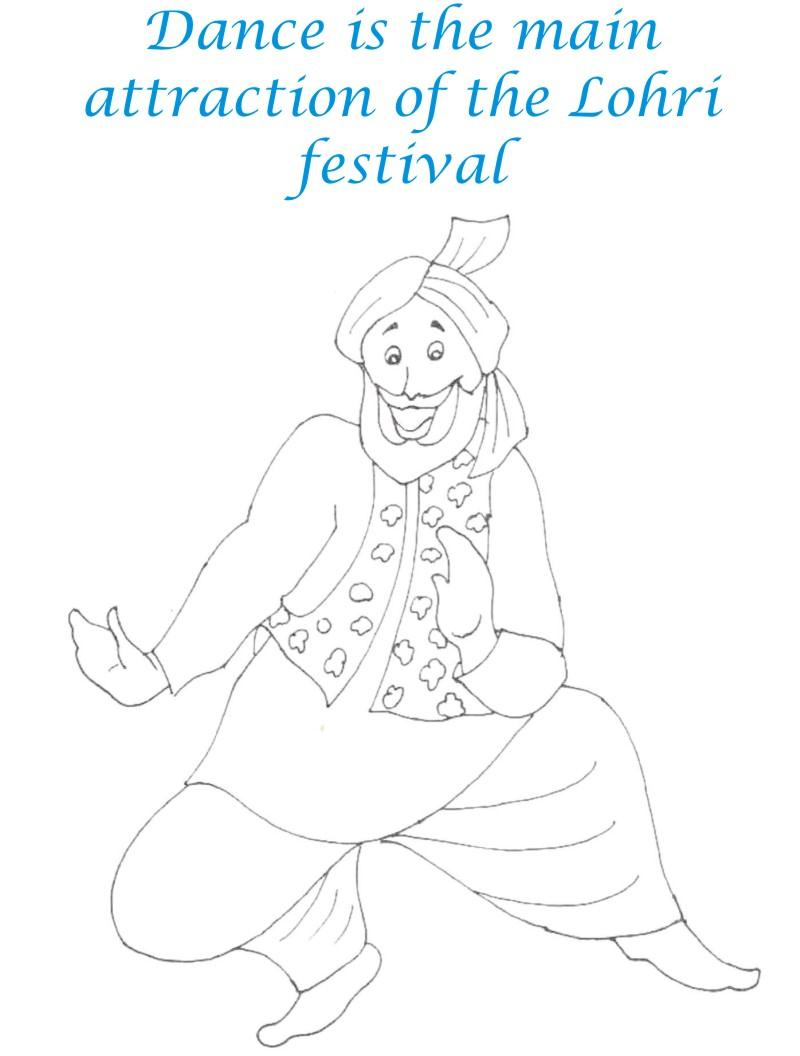 lohri festival coloring pages for kids