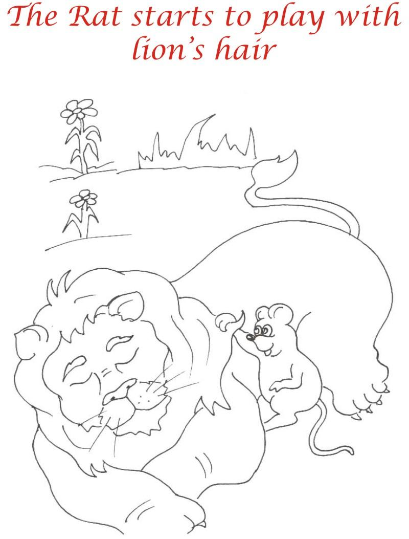 Sleeping Lion Coloring Pages Coloring Pages