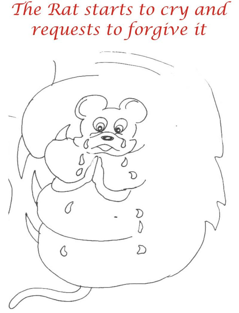 The crying rat coloring page for kids