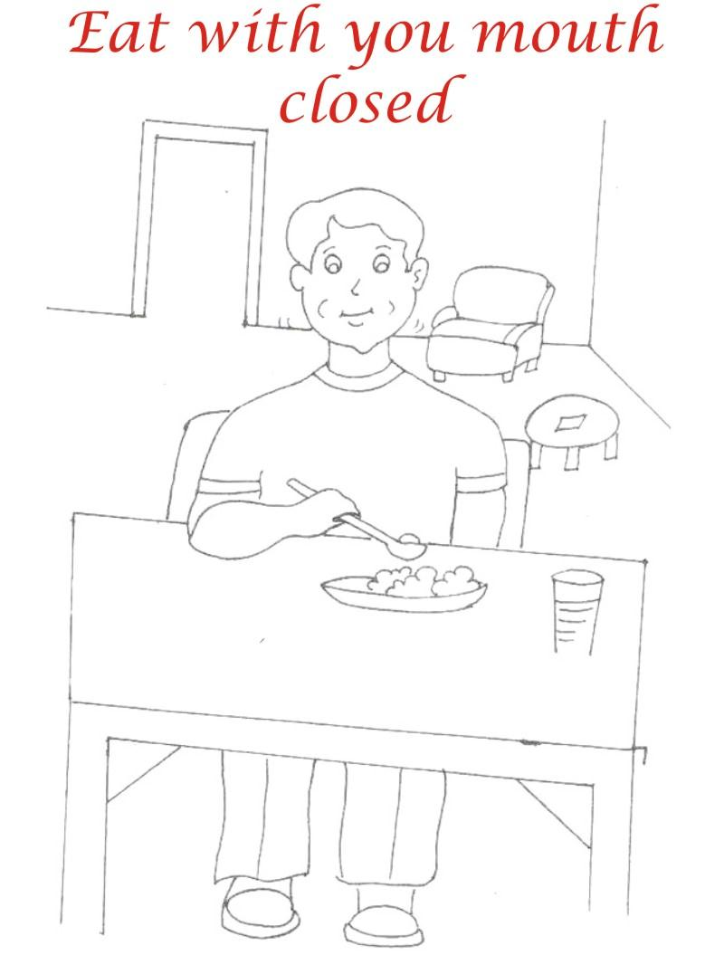 manners coloring pages printables - photo#5