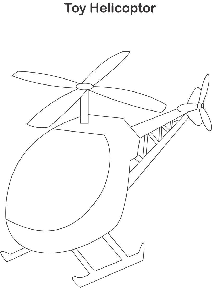 Helicopter coloring printable page