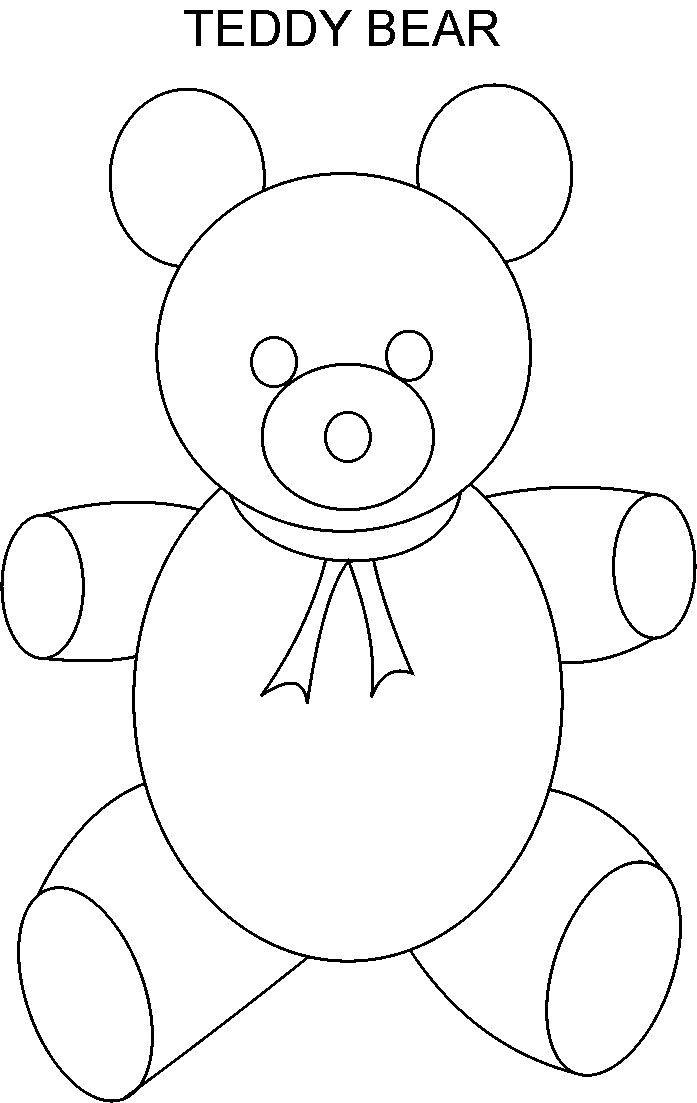 Teddy bear coloring printable page
