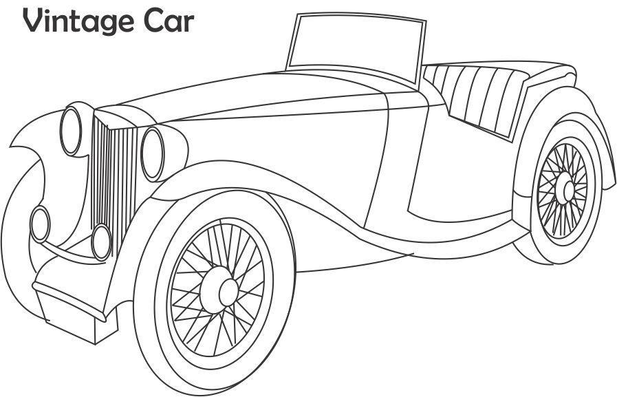vintage car coloring pages - photo#12