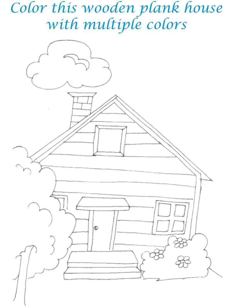 Sweet home coloring printable page for kids 8