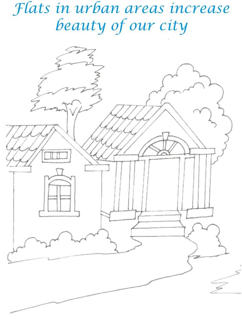 sweet home coloring printable pages for kids