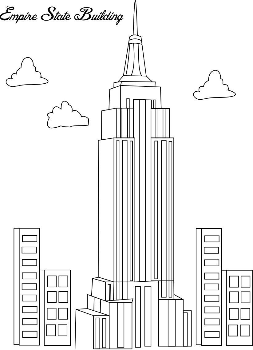 empire state building coloring pages - photo#2