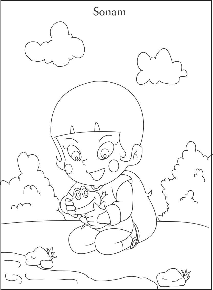 Ninja Sonam coloring page for kids