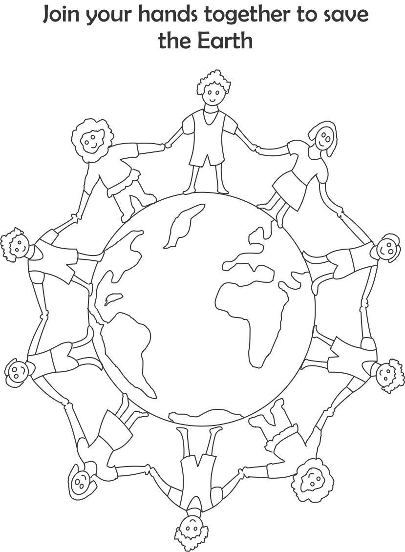 Earth day printable coloring page
