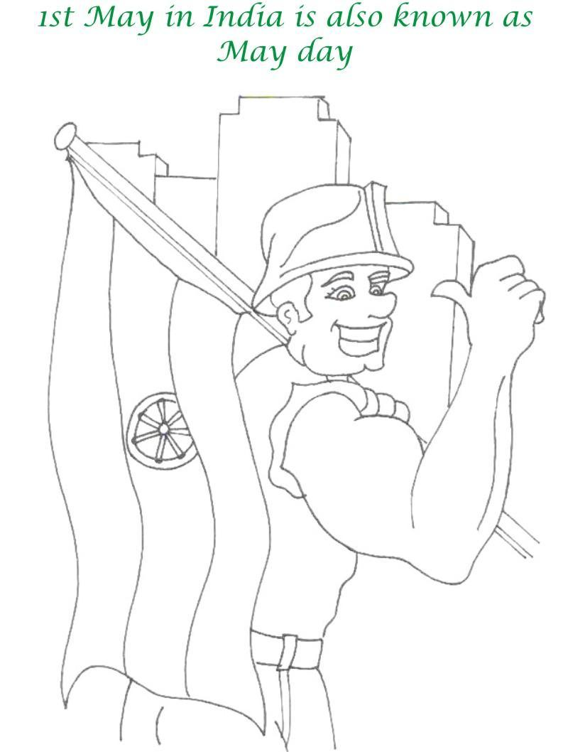 labor day india printable coloring pages for kids
