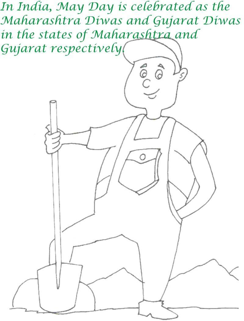 Labor Day printable coloring page