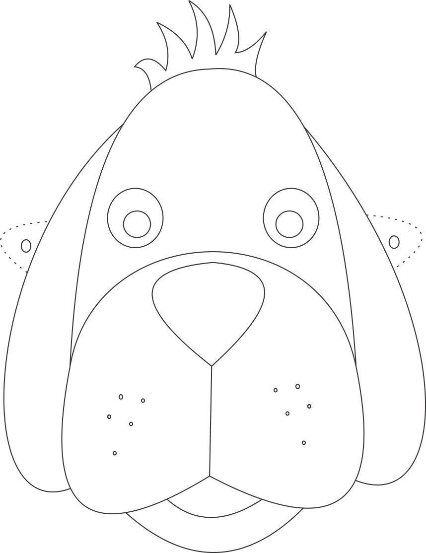 Dog Mask Printable: Dog Mask Printable Coloring Page For Kids
