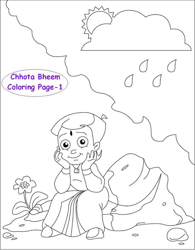 chhota bheem coloring pages - photo#18