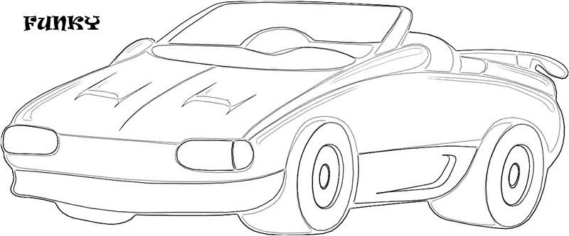 exotic cars coloring pages - photo#9
